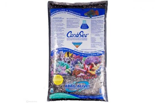 CARIBSEA SABLE VIVANT ARAGA. INDO-PACIF. BLACK 0.2-5 mm 20 lbs 9.07kg