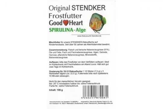 STENDKER CONGELE GOOD HEART SPIRULINA BLISTER 100 gr