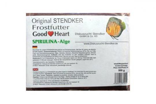 STENDKER CONGELE GOOD HEART SPIRULINA PLAQUE 500 gr