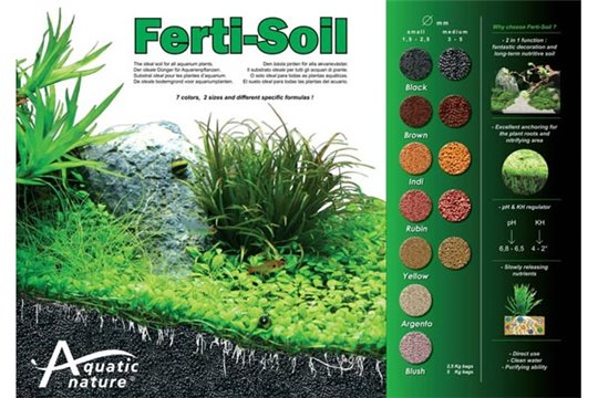 "AQUATIC NATURE FERTI-SOIL ""Argento Small"""