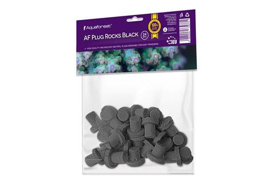 AQUAFOREST AF PLUG ROCKS BLACK 24 pcs