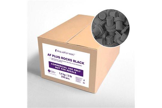 AQUAFOREST AF PLUG ROCKS BLACK 250 pcs COMMERCIAL